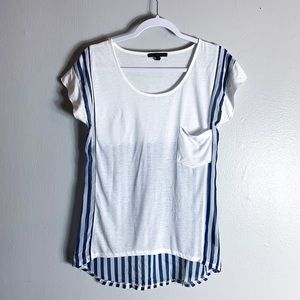 Lucca Couture Blue White Tissue Tee